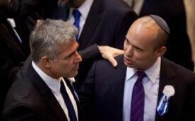 Yaïr Lapid et Naftali Bennett