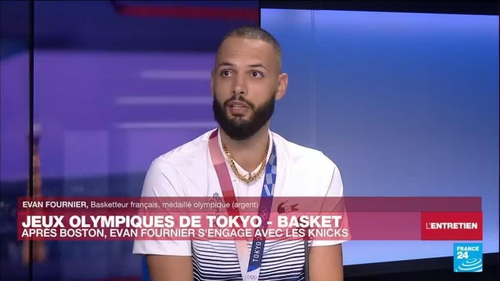 """2021-08-09 21:18 """"Je ne prendrai pas le numéro 94"""" chez les New York Knicks : Evan Fournier sur FRANCE 24"""