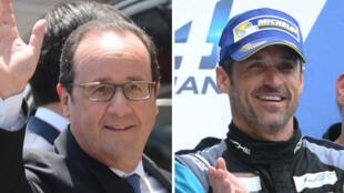 En visite, samedi, sur le circuit des 24 Heures du Mans, François Hollande a salué l'acteur et pilote Patrick Dempsey sans le reconnaître.
