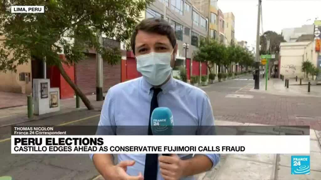 2021-06-08 18:16 Castillo edges ahead as conservative Fujimori calls fraud