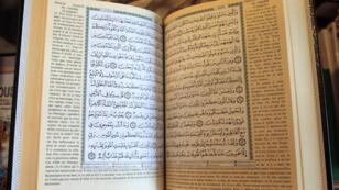 Une copie du Coran à Paris.