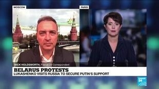 2020-09-14 17:01 Russia promises financial loan to Belarus, but stops short of military support