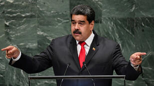 Le président Nicolas Maduro à la tribune de l'ONU, le 26 septembre.
