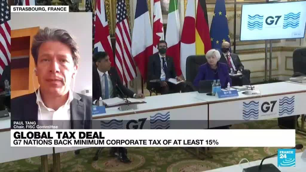 2021-06-07 18:18 G7 nations agreed to back a global corporate tax rate of at least 15%