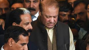 Nawaz Sharif à la sortie de la Cour suprême à Islamabad, le 4 décembre 2018.
