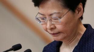 La jefe del Ejecutivo de Hong Kong, Carie Lam, da una nueva conferencia para desmentir su posible renuncia.