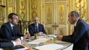 Laurent Berger, leader CFDT a été le premier reçu à l'Élysée, le 23 mai.