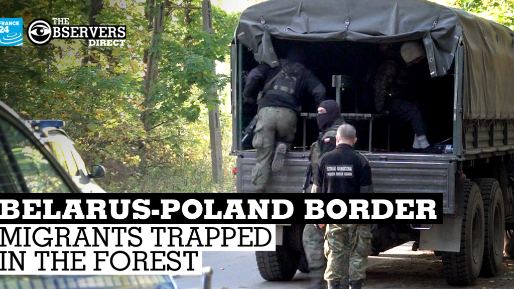 Migrants trapped at Belarus-Poland border call for help via videos, GPS coordinates