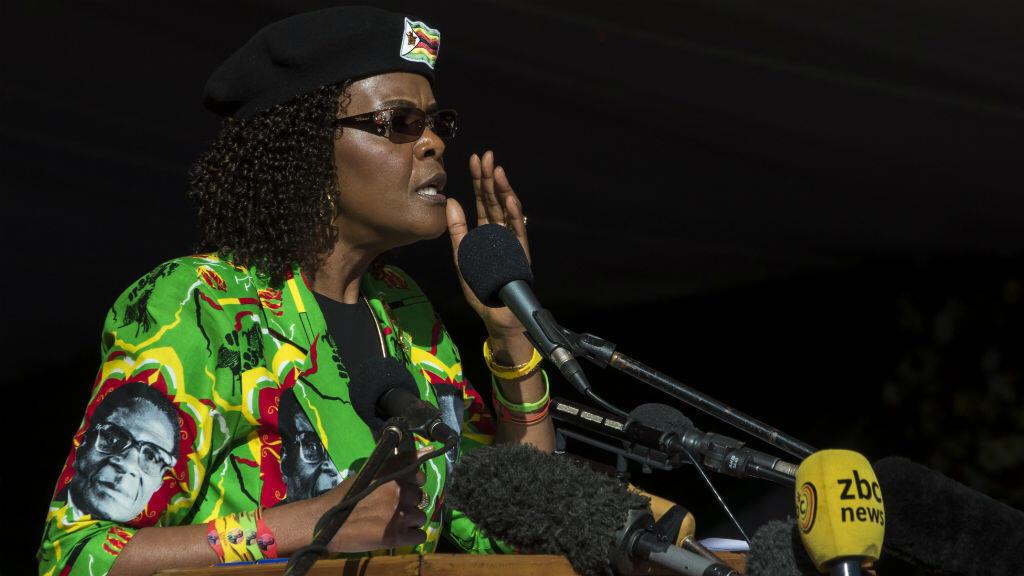 Grace Mugabe était sous le coup d'une plainte pour coups et blessures en Afrique du Sud.