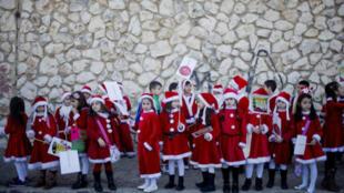 El desfile de Navidad en Nazaret, en 2016.