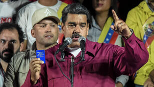Le président vénézuélien Nicolas Maduro après l'annonce des résultats de la présidentielle, le 20 mai 2018, à Caracas.