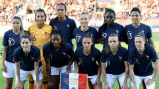 Les Bleues avant leur dernier match de préparation face à la Chine, le 31 mai 2019, à Créteil.