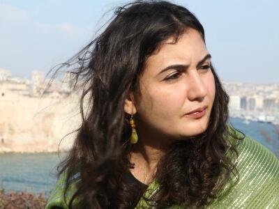 Asmaa al-Ghoul au forum Anna Lindh, à Marseille