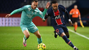 Neymar scored twice in PSG's 6-1 demolition of Angers in Ligue 1 on Friday