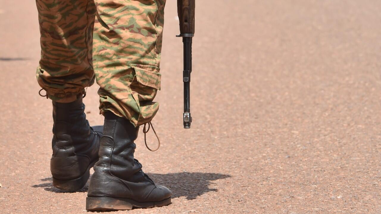 A Burkina Faso soldier on patrol in Ouahigouya on October 29, 2018.