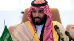 صورة نشرها الديوان الملكي السعودي لولي العهد الأمير محمد بن سلمان في الرياض في 26 نوفمبر 2017
