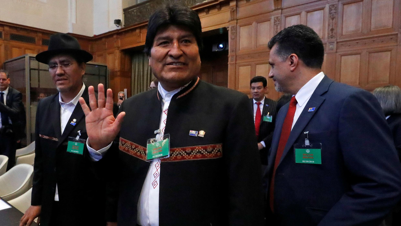 Evo Morales en la CIJ