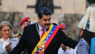 Nicolas Maduro lors d'une cérémonie à Valencia, dans l'État de Carabobo, le 24 juin 2019.