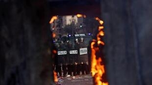 En la imagen, 'Las Marchas por la Libertad' llegan a Barcelona después de 3 días y 100 kilómetros reivindicando la amnistía y el derecho a decidir. En Barcelona, España. El 18 de octubre de 2019.