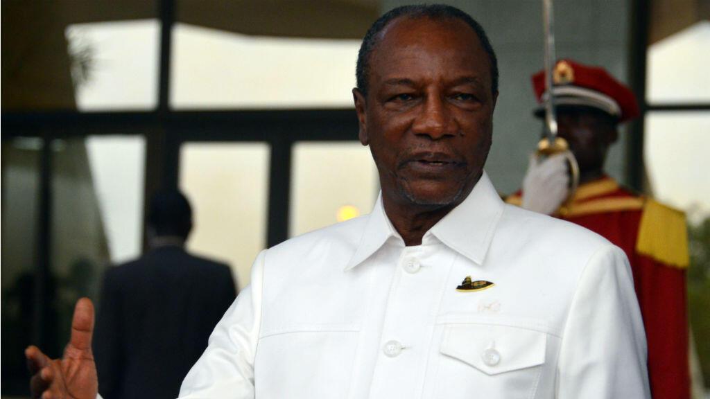 Le président guinéen Alpha Condé, en 2017