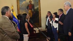 La cuenta oficial de la Asamblea Nacional Constituyente de Venezuela reseñó la juramentación de los cuatro gobernadores opositores.