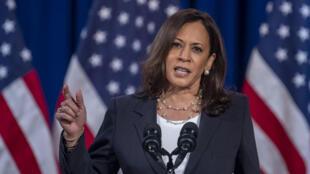 La candidata demócrata a la vicepresidencia de EEUU Kamala Harris