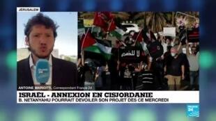 """2020-07-01 12:00 Annexion en Cisjordanie : """"A priori, la décision devrait être prise dans les prochaines jours"""""""