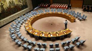 La sala de sesiones del Consejo de Seguridad de la ONU en una fotografía del 20 de septiembre de 2017