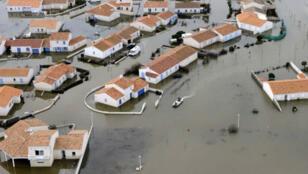 Les dégâts causés par la tempête Xynthia en Vendée, en 2010.
