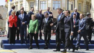 Les dirigeants des 27 États de l'UE (sans le Royaume-Uni) ont annoncé jeudi 9 mai 2019 à Sibiu, en Roumanie, leur position commune sur le dossier du nucléaire iranien.