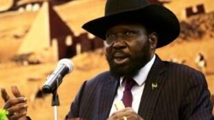 رئيس جنوب السودان سالفا كير في الخرطوم في 2 تشرين الثاني/نوفمبر 2017