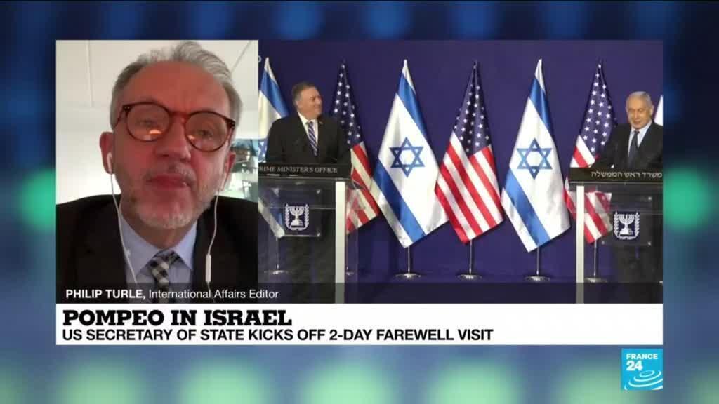 2020-11-19 11:04 Pompeo starts unprecedented tour of West Bank settlement, Golan