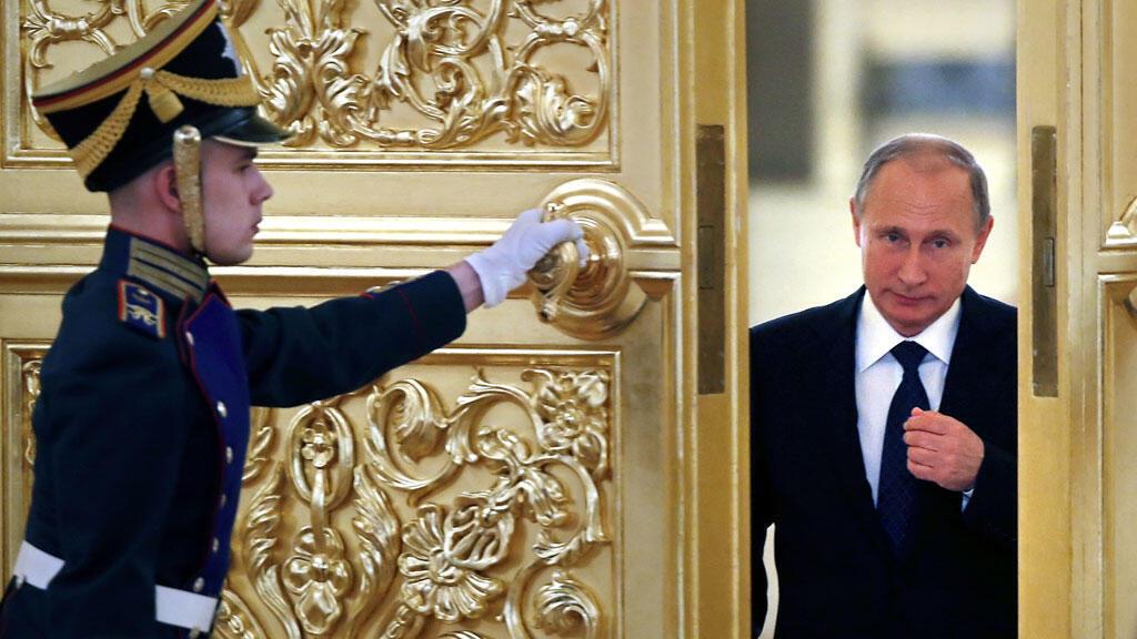 Le président russe Vladimir Poutine au Kremlin, le 1er octobre 2015.