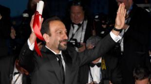 Le cinéaste iranien Asghar Farhadi au festival de Cannes, le 22 mai 2016.