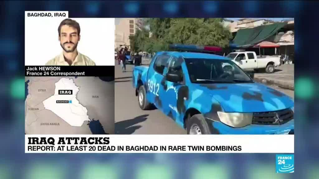 2021-01-21 11:01 At least 20 dead in double suicide bombing in Baghdad in first major attack in city centre