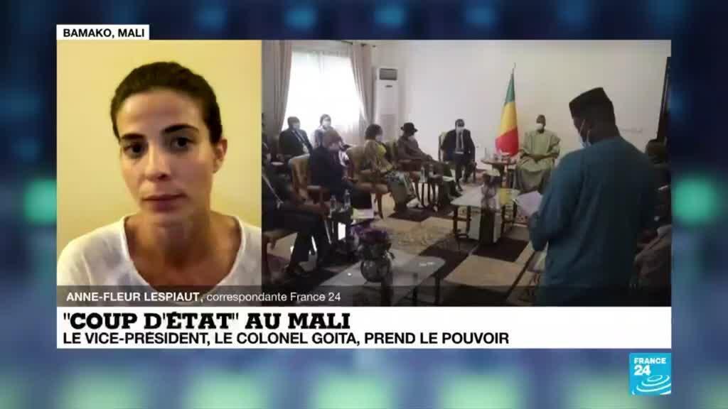 """2021-05-25 18:03 """"Coup d'Etat"""" au Mali : le colonel Goïta prend le pouvoir"""