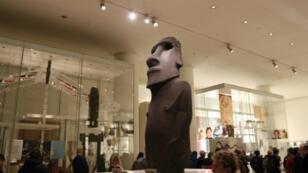 (PHOTO ARCHIVE) Le moai Hoa Hakananai´a exposé au British Museum de Londres, le 20 novembre 2018