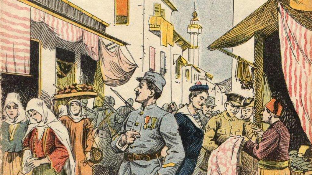 """La couverture du livre """"Un Parisien à Salonique"""" de C. Altam, publié en 1918."""