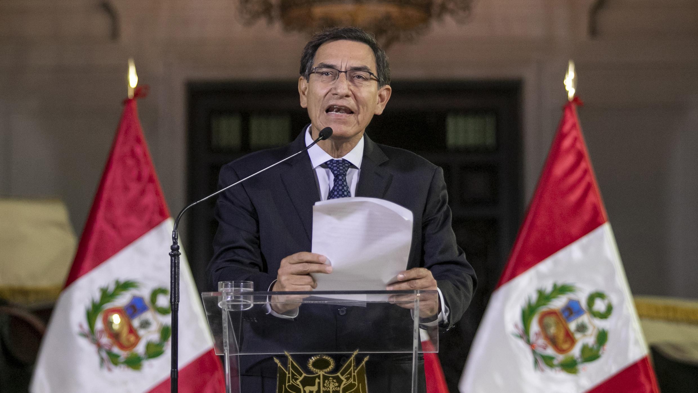 Le président péruvien Martin Vizcarra le 30 septembre 2019 à Lima.