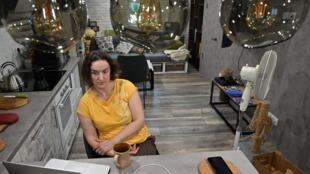 La informática Natalia Murashko, de 39 años, entrevistada por la AFP en Kiev el 2 de julio de 2020