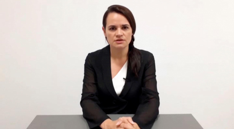 """La opositora bielorrusa Svetlana Tikhanovskaya aseguró, en un video grabado en Lituania el 17 de agosto de 2020, que está """"lista"""" para asumir el papel de jefa de Estado."""