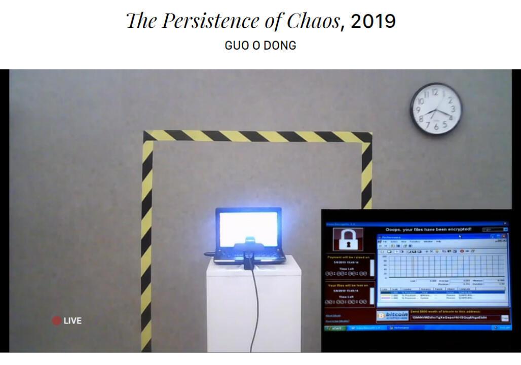 """Le live de l'ordinateur sur la page Web """"La Persistance du Chaos""""."""