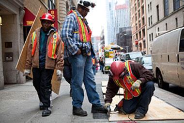 Manhattan se prépare à l'arrivée de l'ouragan (crédit : AFP)