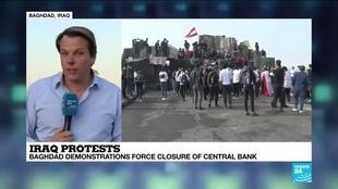 "2019-11-18 14:38 Iraq protests: ""There are less people at Tahrir Square, less families"""