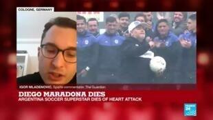 2020-11-25 18:07 Argentina soccer legend Maradona dies of heart attack