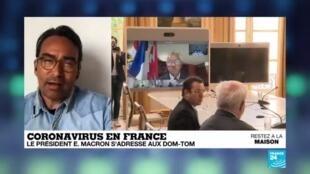 2020-04-29 13:07 Covid-19 en France : le président Emmanuel Macron s'adresse aux DOM-TOM