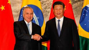 Encuentro entre el presidente de Brasil, Michel Temer, y el presidente de la República Popular de China, Xi Jinping, en septiembre de 2017.