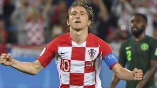 Luka Modric, élu meilleur joureur du Mondial-2018.