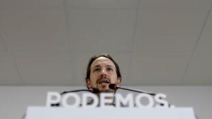 Pablo Iglesias, secrétaire général de Podemos.