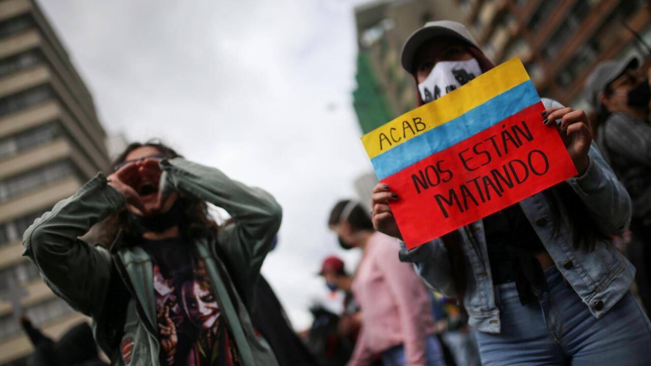 El aumento de las masacres en Colombia ocasionó una protesta masiva en contra de este tipo de asesinato, en Bogotá, el 21 de agosto de 2020.
